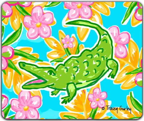 """Alligator"" Mouse Pad by Tracey Gurley"