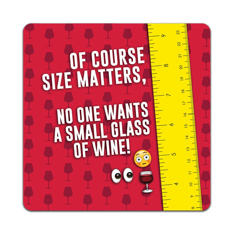 """Of Course Size Matters"" Vinyl Decal by CJ Bella Co"