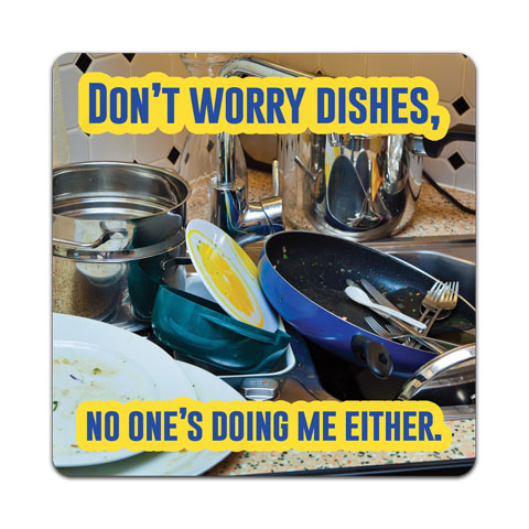 """Don't Worry Dishes"" Vinyl Decal by CJ Bella Co"