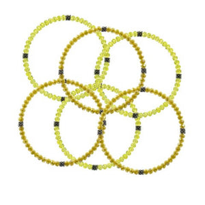 Stackin' Stones Single Bracelet - Yellow Tones - CJ Bella Co.