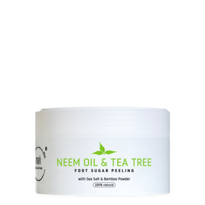 MARK sugar foot scrub Neem & Tea tree oil - s bambusovým práškem