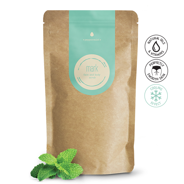 MARK coffee scrub Peppermint - s chladivým efektem