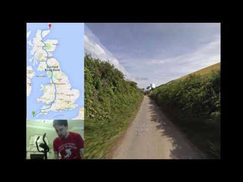 This man is cycling around the UK in virtual reality using Google Street View