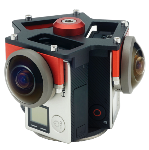 Entaniya Fisheye 3 Cam Rig for GoPro direct mount - The VR Pros