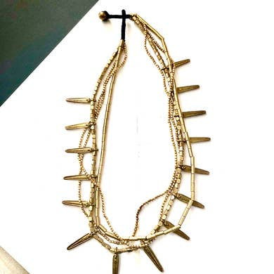 Tanaya Layered Brass Necklace