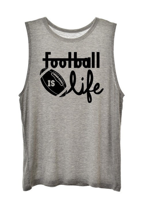 Football is Life Graphic Tee