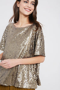 Shelby Sequin Top