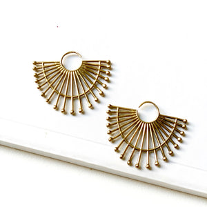 Tandi Brass Earrings