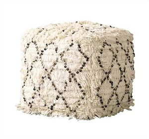 "16"" Moroccan Sequined Pouf"