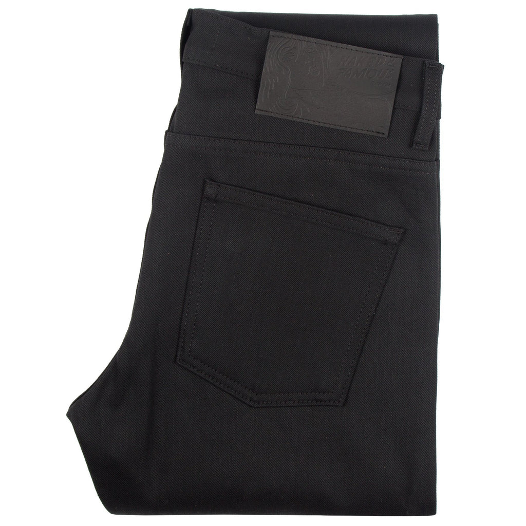 Naked And Famous - Super Skinny Guy - Solid Black Selvedge