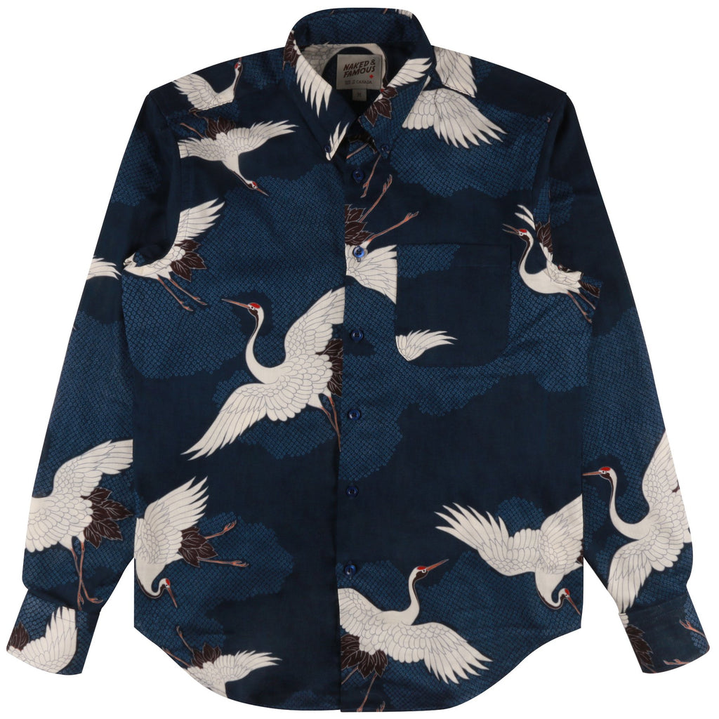 Naked And Famous - Easy Shirt - Japanese Crane Blue - Guys