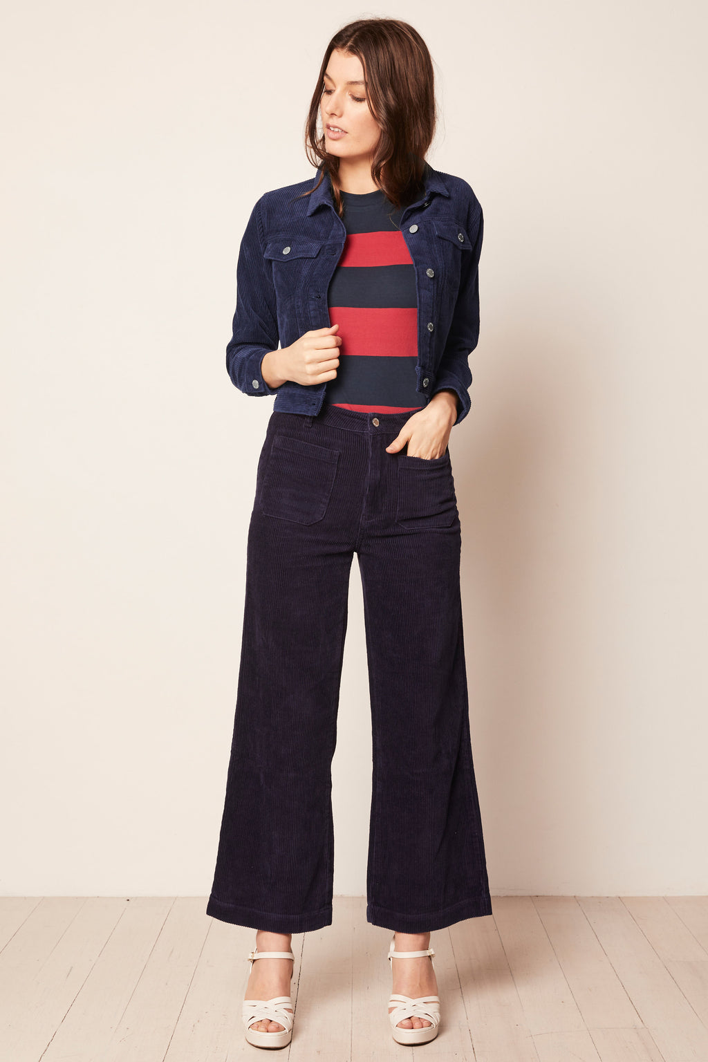 Rolla's - Cord Sailor Pant - Navy - Gals