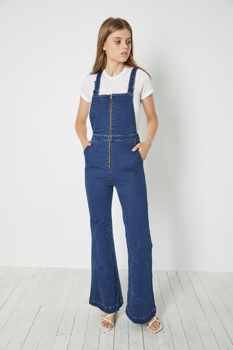 Rolla's - Eastcoast Flare Overall - French Blue - Gals