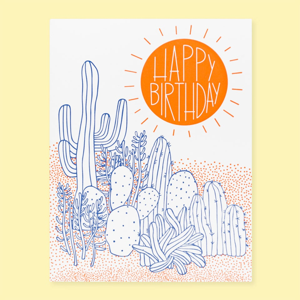 The Good Twin - Happy Birthday Cacti Desert - Card