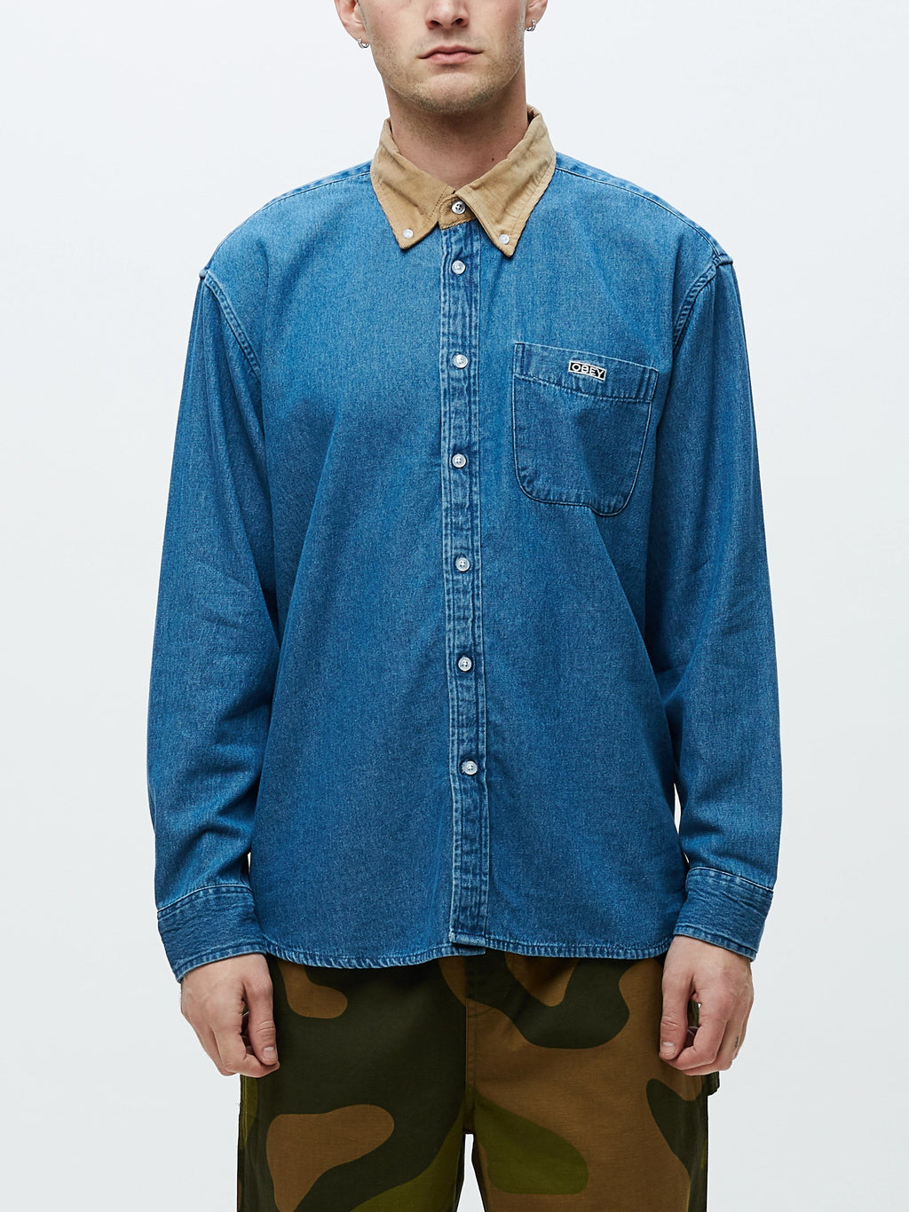 Obey - Nolan Denim Woven - Light Indigo - Guyz