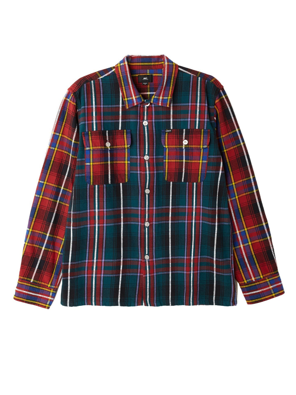 Obey - Casual Woven Flannel - Deep Teal Multi - Guyz