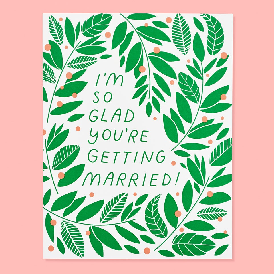 The Good Twin - I'm So Glad You're Getting Married - Card