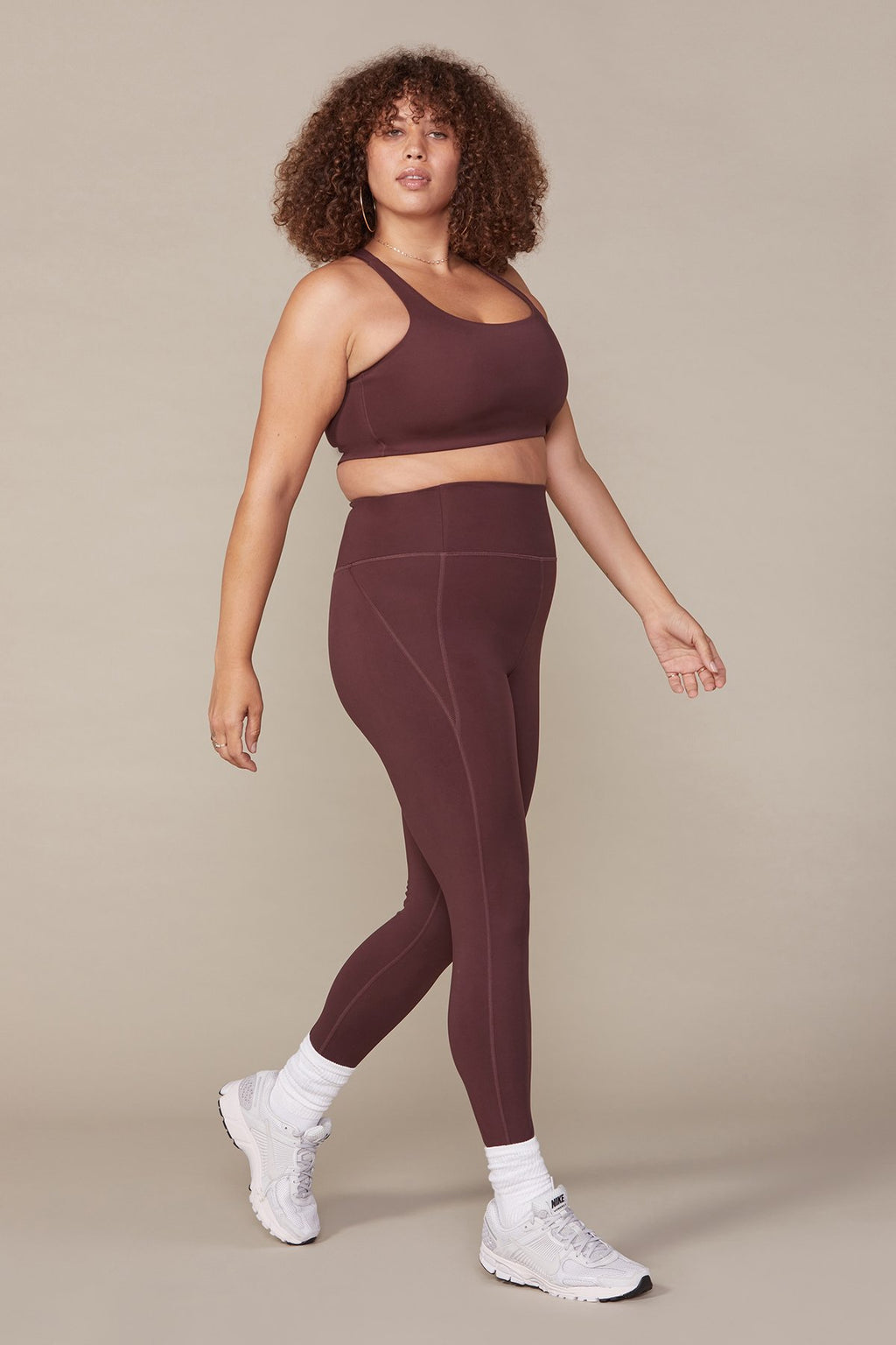 Girlfriend Collective - High Rise Classic Leggings - Cocoa - Galz