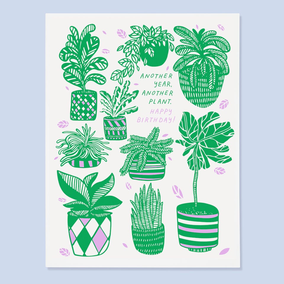 The Good Twin - Another Year, Another Plant. Happy Birthday - Card