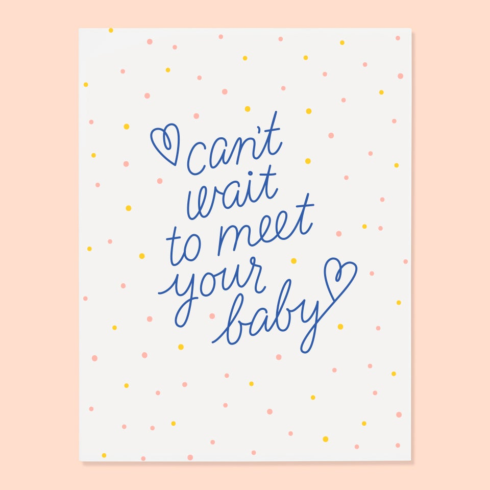 The Good Twin - Can't Wait To Meet Your Baby - Card