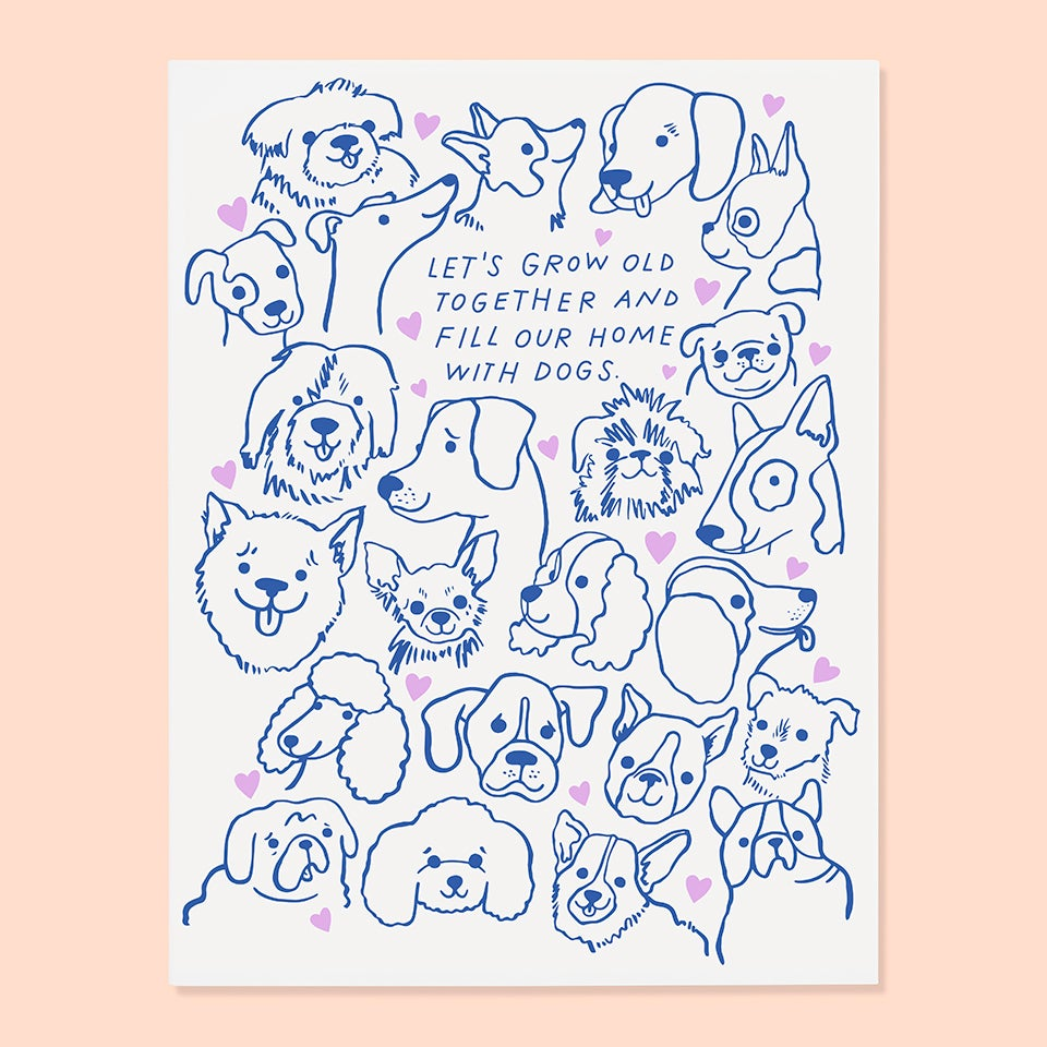The Good Twin - Let's Grow Old Together And Fill Our House With Dogs - Card