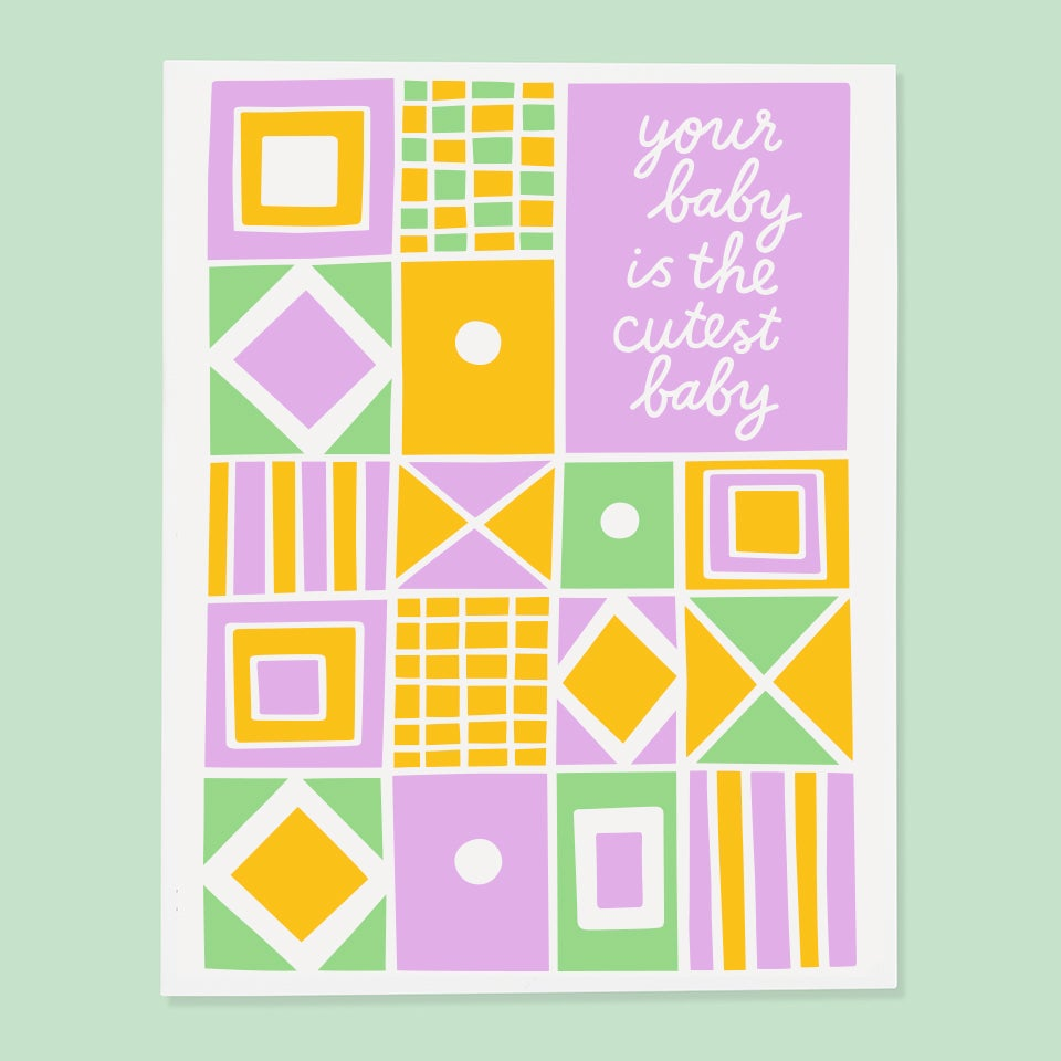 The Good Twin - Your Baby Is The Cutest Baby - Card