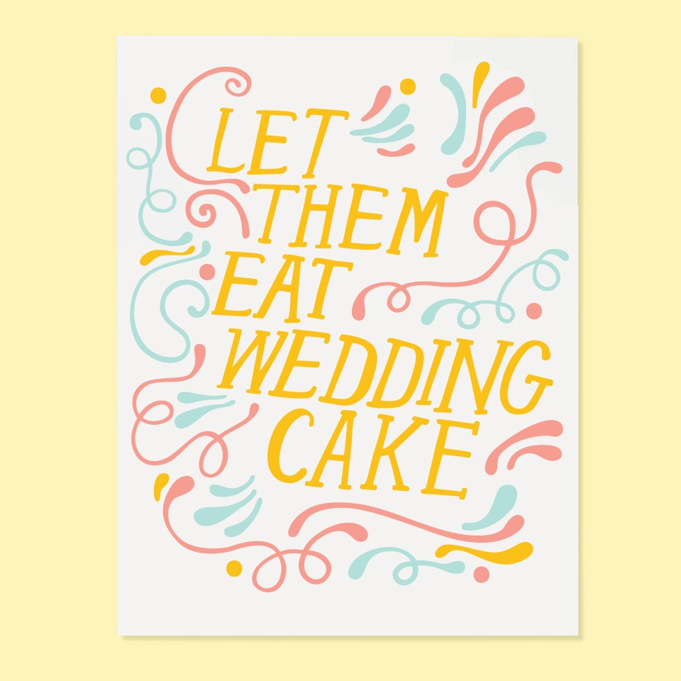 The Good Twin - Let Them Eat Wedding Cake - Card