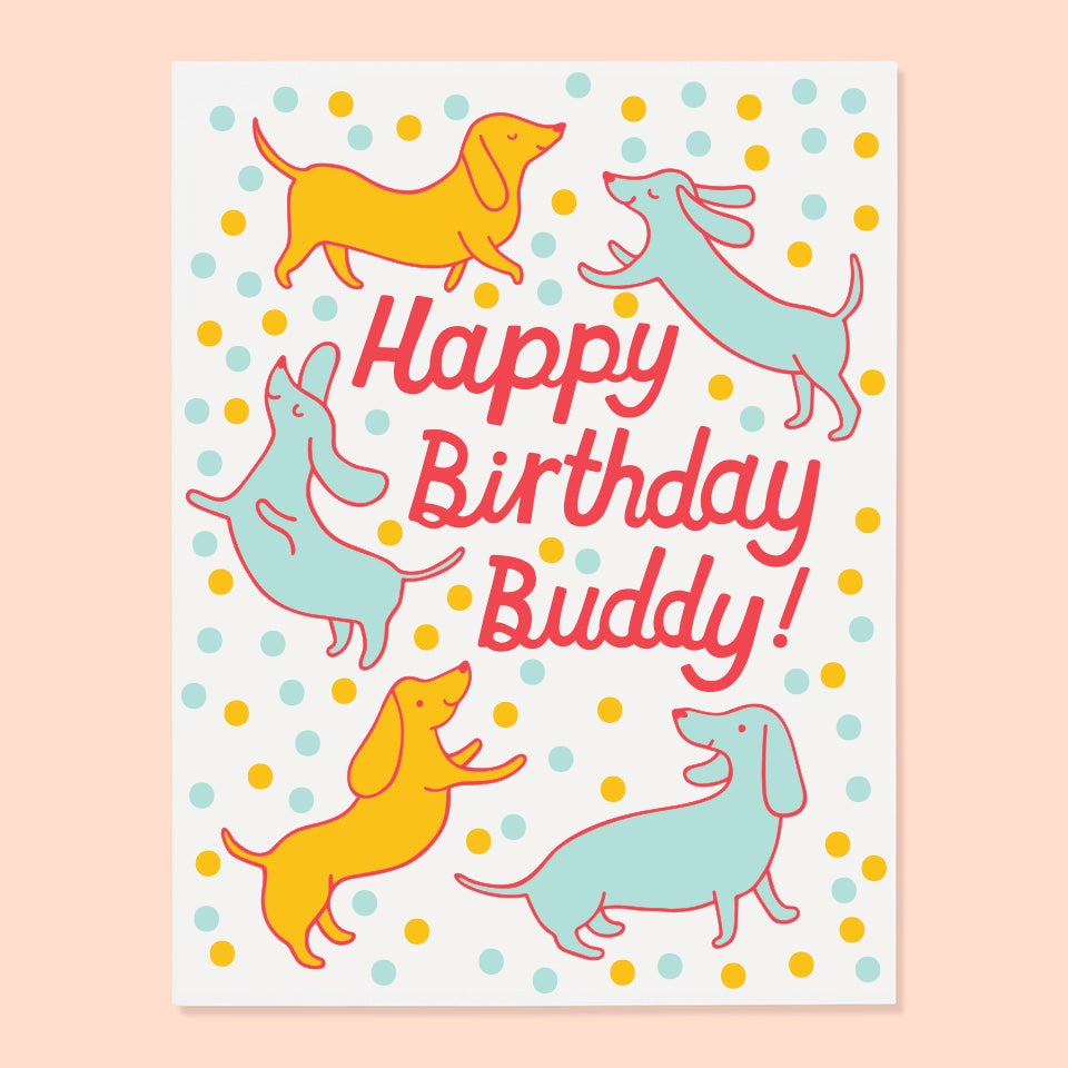 The Good Twin - Happy Birthday Buddy - Card