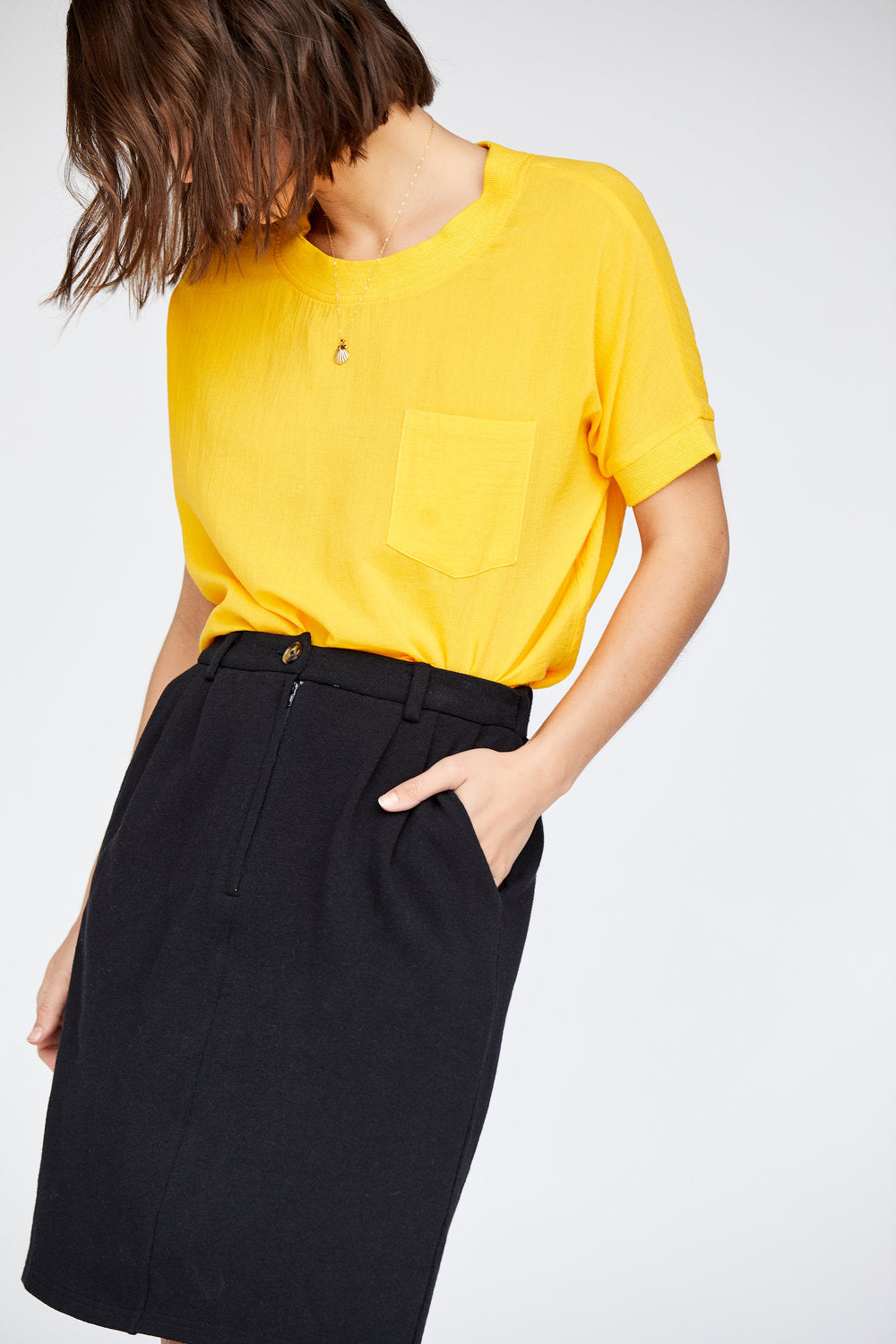 Callahan - Chelsea Pocket Tee - Canary Yellow - Galz