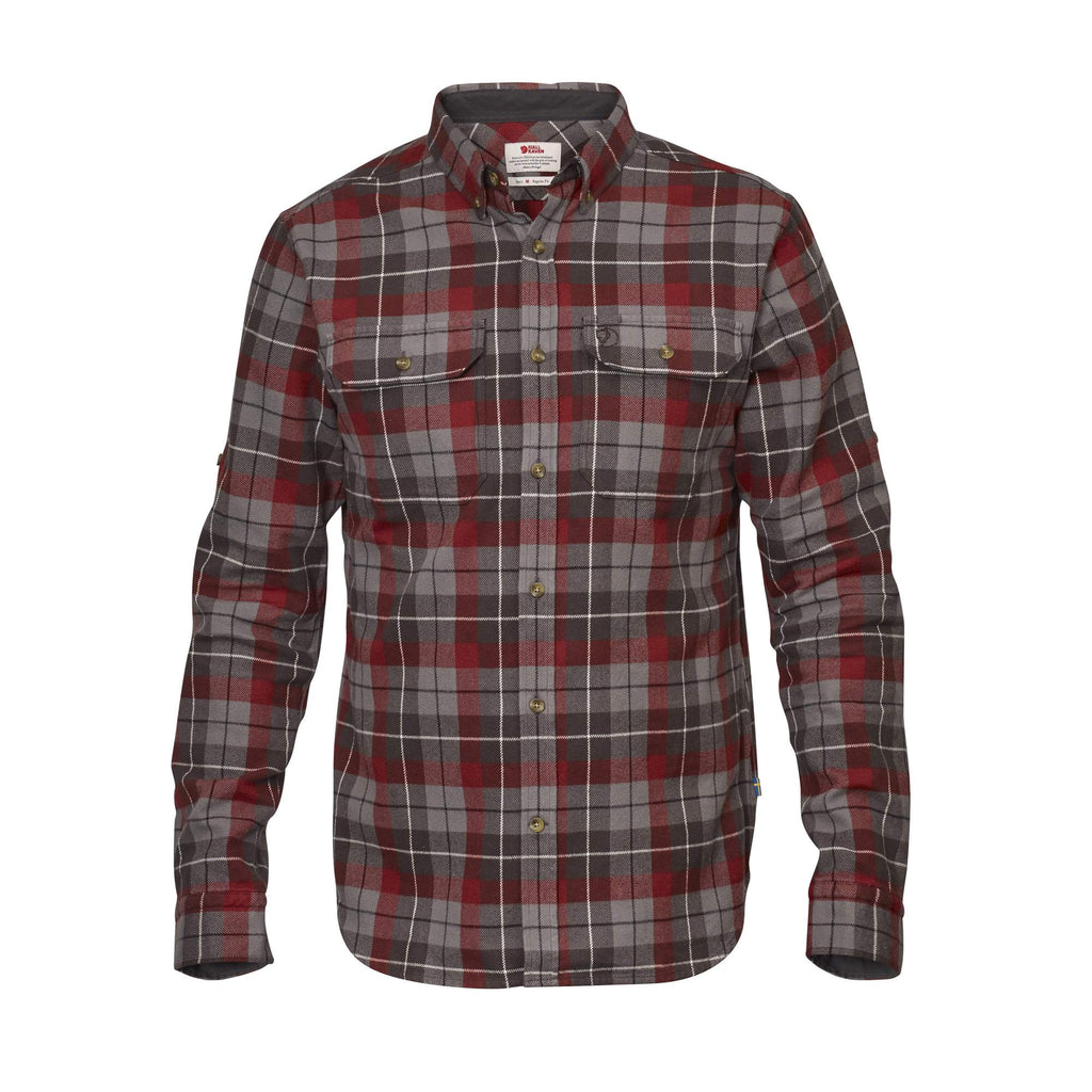 Fjallraven - Singi Heavy Flannel - Dark Grey - Guys
