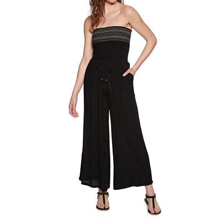 Superdry - Sara Smocking Jumpsuit - Black - Galz
