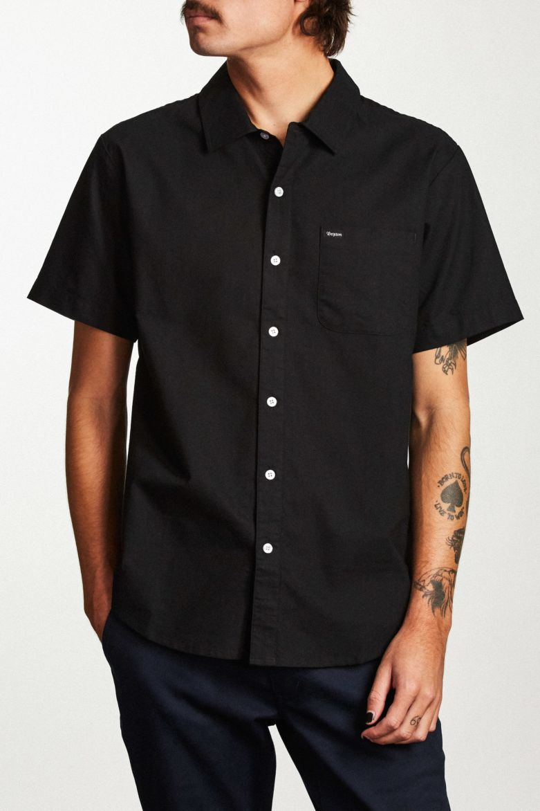Brixton - Charter Short Sleeve Shirt - Black - Guys