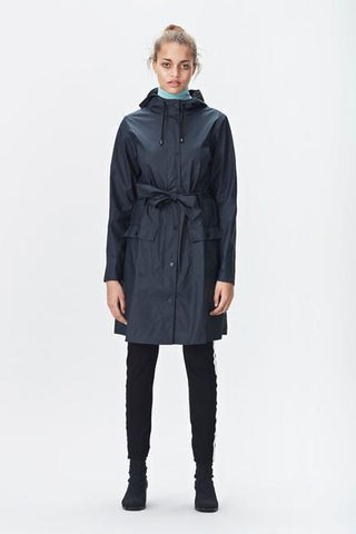 Rains - Curve Jacket - Blue - Gals