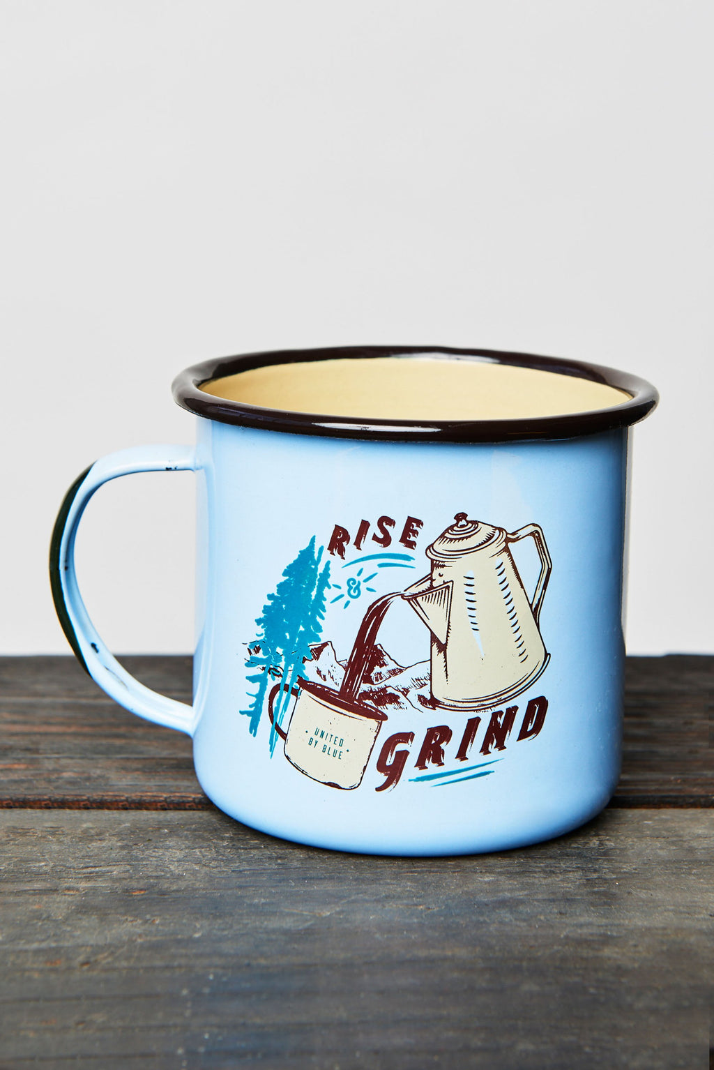 United By Blue - Rise And Grind 22oz Enamel Mug
