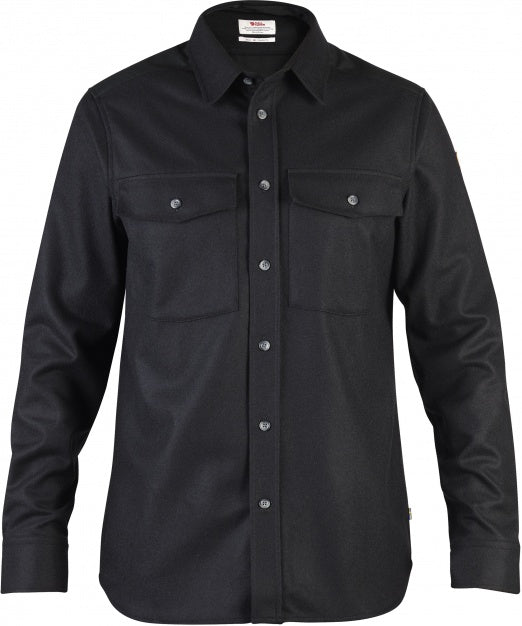 Fjallraven - Ovik Re-Wool Shirt - Black - Guys