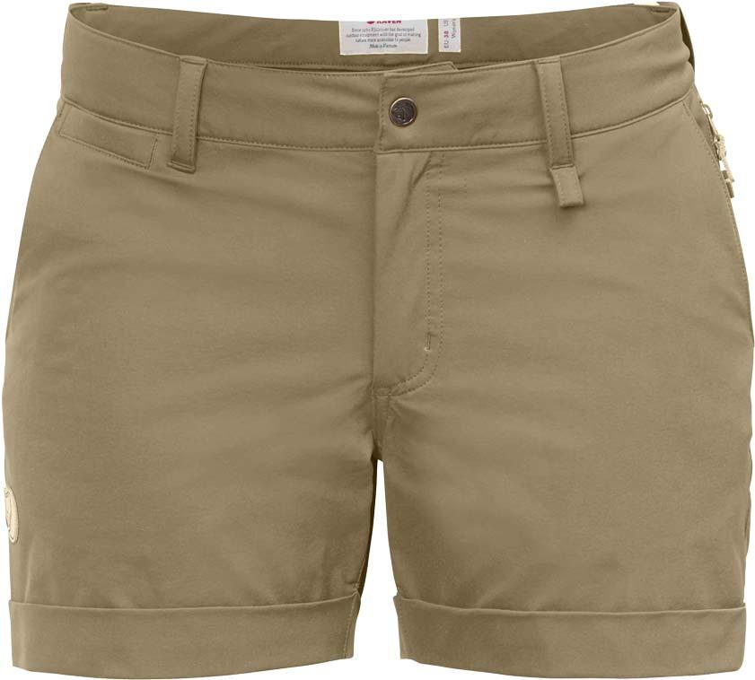 Fjallraven - Abisko Stretch Shorts - Sand - Gals