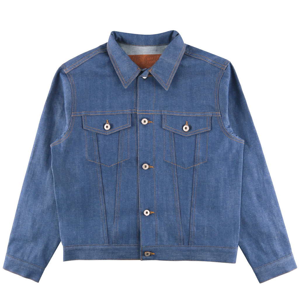 Naked And Famous - Denim Jacket - Clear Blue Selvedge - Guys