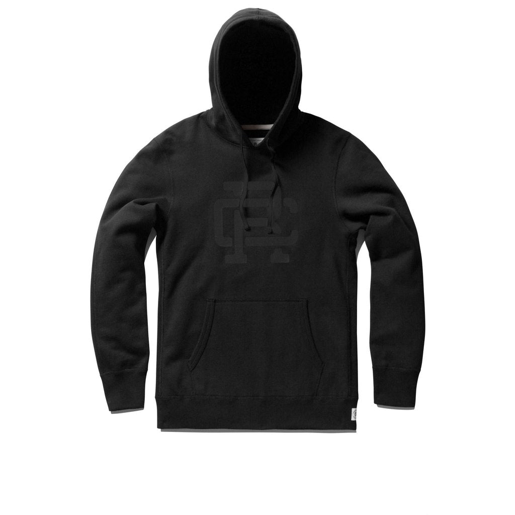 Reigning Champ - Monogram Pullover Hoodie - Black - Guys