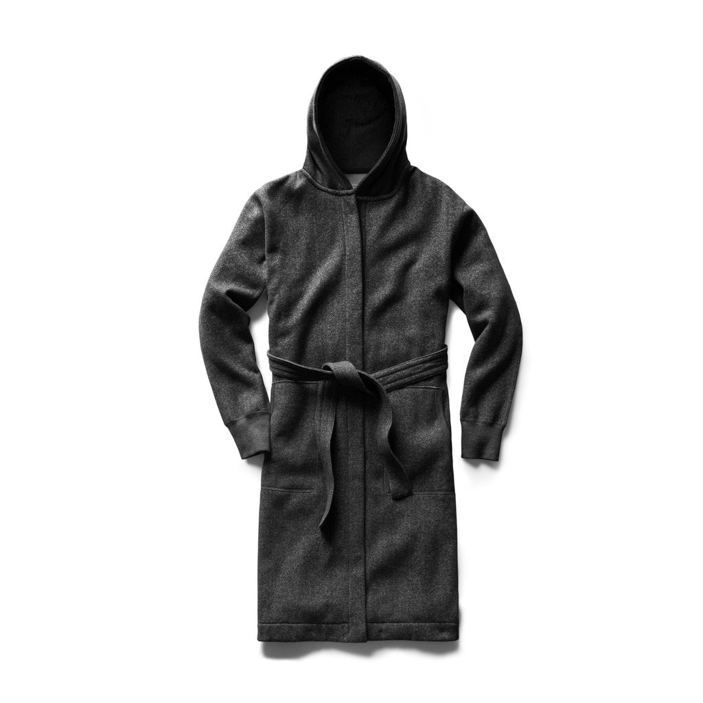 Reigning Champ -  Hooded Robe  - Black - Tiger Fleece - Guys