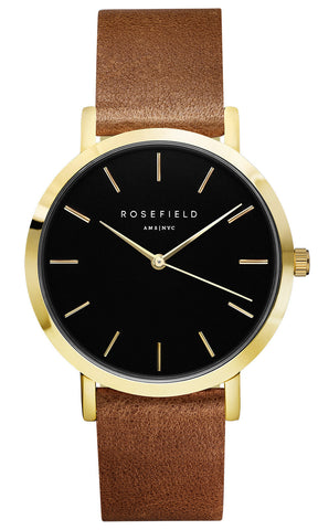 Rosefield - The Gramercy - Black/Brown - Watch