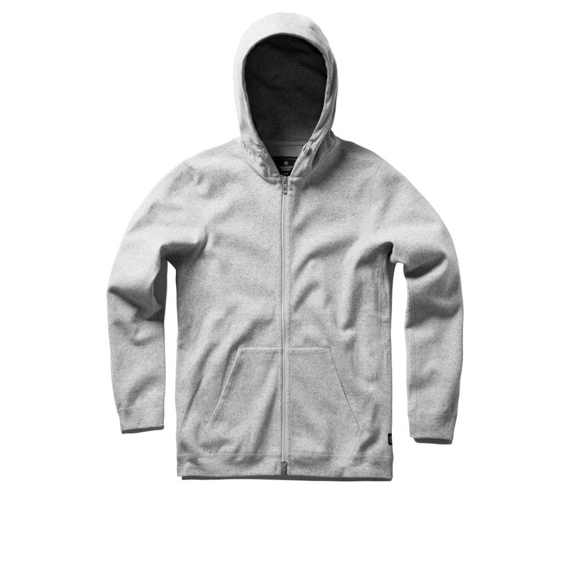 Reigning Champ - Full Zip Hoodie - Heather Grey - Guys