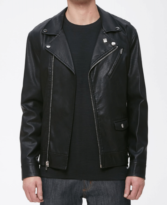 Obey - Bastards Vegan Leather Jacket - Black - Guys