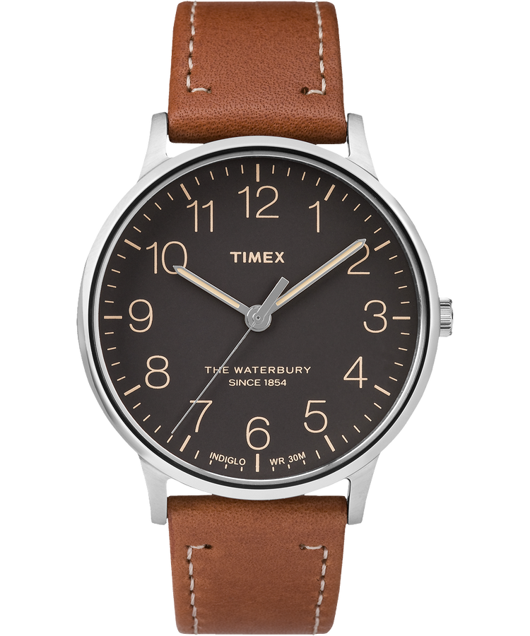 Timex - The Waterbury - Steel/Brown/Black - Watch