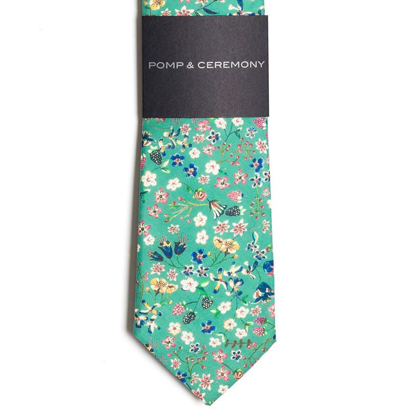 Pomp And Ceremony - Donna Leigh (Teal) Tie