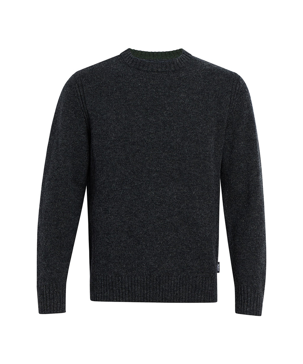 Woolrich - Kennebeck Shetland Sweater - Asphalt Heather -  Guys