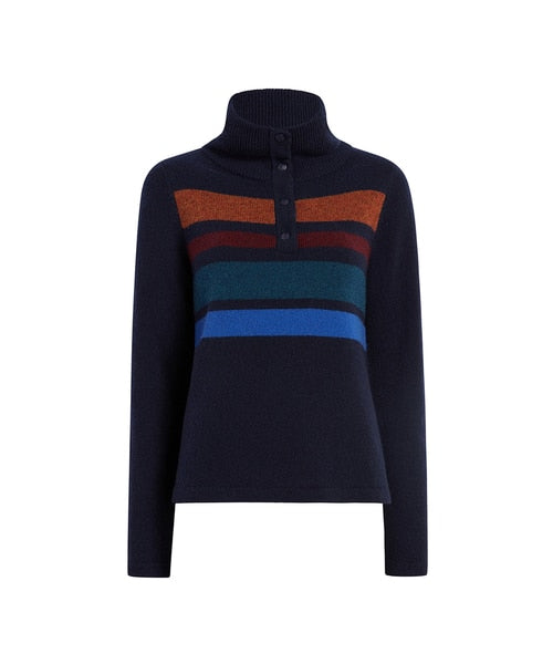 Woolrich - Snap T Sweater - Navy - Gals