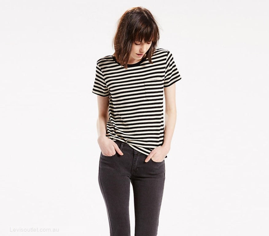 Levi's - Perfect Crew Tee Gina Obsidian - Gals