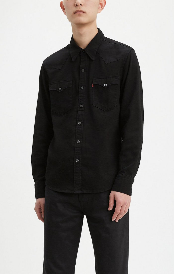 Levi's - Barstow Western - Black - Long Sleeve Shirt - Guyz