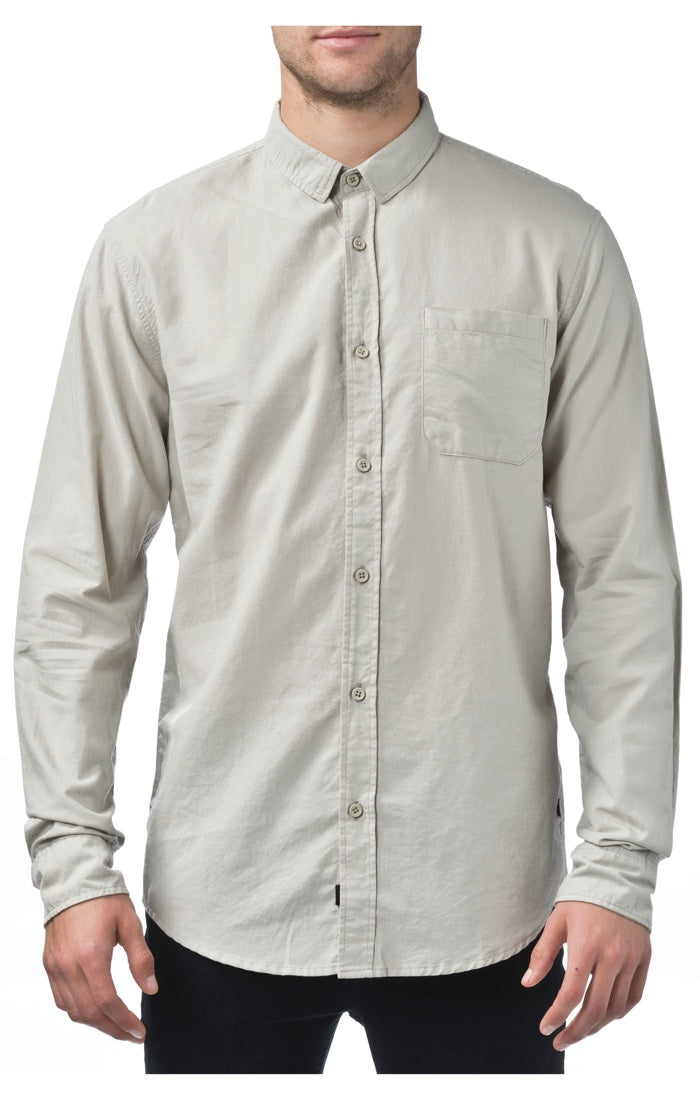 Globe - Barkly L/S Shirt - Bone - Guys