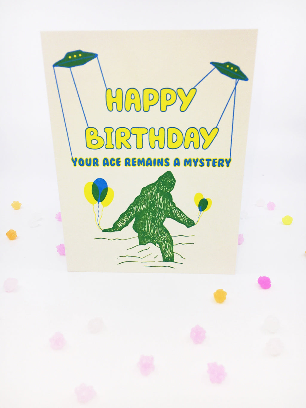 Your Age Remains a Mystery  - Greeting Card
